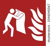 safety sign  fire blanket... | Shutterstock .eps vector #1046040067