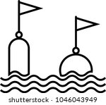 buoy icon  float buoy icon... | Shutterstock .eps vector #1046043949