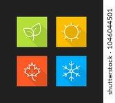 set of season icons. vector... | Shutterstock .eps vector #1046044501