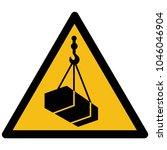 warning  hazard sign vector  ... | Shutterstock .eps vector #1046046904