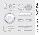 flat web ui elements design...