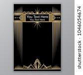 art deco template golden black  ... | Shutterstock .eps vector #1046054674