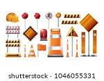 under construction design... | Shutterstock .eps vector #1046055331