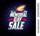 memorial day sale poster design ... | Shutterstock .eps vector #1046056381