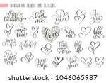 big set hand written lettering... | Shutterstock . vector #1046065987