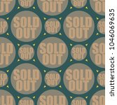 sold out seamless pattern with... | Shutterstock .eps vector #1046069635