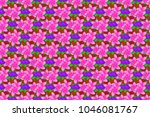 spring paper with abstract cute ... | Shutterstock . vector #1046081767