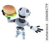 3d render of a funny cartoon... | Shutterstock . vector #1046081779