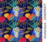 bright seamless pattern. hello... | Shutterstock . vector #1046090377