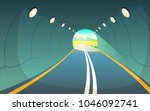 vector illustration of tunnel ... | Shutterstock .eps vector #1046092741