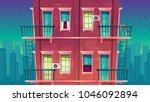 vector residential multi storey ... | Shutterstock .eps vector #1046092894