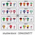 soccer cup 2018 team group set .... | Shutterstock .eps vector #1046106577