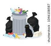 environment polution concept.... | Shutterstock .eps vector #1046108587