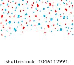 usa celebration red and blue... | Shutterstock . vector #1046112991
