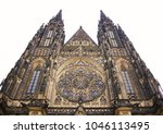 old gothical cathedral of saint ... | Shutterstock . vector #1046113495