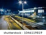 industrial rail yard shunting... | Shutterstock . vector #1046119819