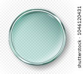 empty petri dish isolated on... | Shutterstock .eps vector #1046120431