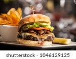 classic burger with cheese | Shutterstock . vector #1046129125