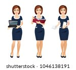 young office woman assistant in ... | Shutterstock .eps vector #1046138191