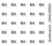 drawn black cobra on white... | Shutterstock .eps vector #1046140504