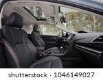 leather black seats in the car... | Shutterstock . vector #1046149027