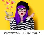 portrait of a young woman with...   Shutterstock . vector #1046149075