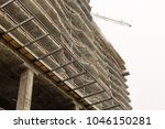 construction of a new building... | Shutterstock . vector #1046150281