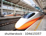 High Speed Bullet Train By The...