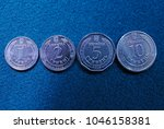 close up of new coins of...   Shutterstock . vector #1046158381