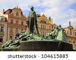 travel in prague  old town... | Shutterstock . vector #104615885