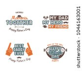 fathers day badges  labels... | Shutterstock .eps vector #1046163001
