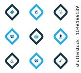 medicine icons colored set with ... | Shutterstock . vector #1046166139