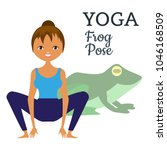 yoga. asana is the pose of a... | Shutterstock .eps vector #1046168509