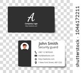 two sided business card... | Shutterstock .eps vector #1046172211