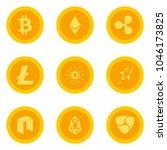 cripto currency logo coins ... | Shutterstock .eps vector #1046173825