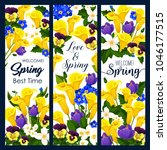 welcome spring greeting banner... | Shutterstock .eps vector #1046177515