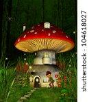 dwarfs land  mushroom house ... | Shutterstock . vector #104618027