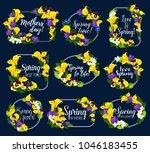 springtime flowers bouquets... | Shutterstock .eps vector #1046183455