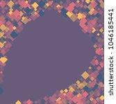 rhombus violet minimal... | Shutterstock .eps vector #1046185441