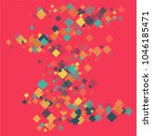 rhombus backdrop minimal... | Shutterstock .eps vector #1046185471