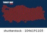 abstract turkey map of radial... | Shutterstock .eps vector #1046191105