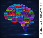 abstract silhouette human brain ...   Shutterstock .eps vector #1046191141