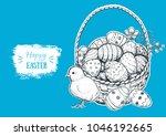 happy easter vector...   Shutterstock .eps vector #1046192665