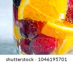 detox water with a cherry and... | Shutterstock . vector #1046195701
