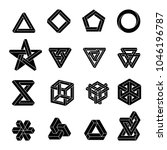 set of impossible shapes....   Shutterstock .eps vector #1046196787