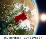 central africa during sunrise... | Shutterstock . vector #1046196937