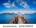 lighthouse ushuaia  tierra del... | Shutterstock . vector #1046198905