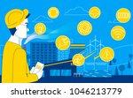 smart factory. impact on... | Shutterstock .eps vector #1046213779
