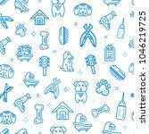 pet shop vector seamless... | Shutterstock .eps vector #1046219725