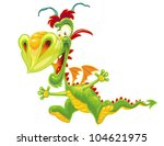 happy dragon on white background | Shutterstock .eps vector #104621975